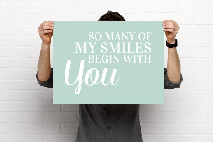 Poster Printable, So Many Of My Smiles Begin With You, Nursery Art Print, Playroom Print, Digital Download, Instant Download, 18x24, 24x36 by BonnyPrintables on Etsy
