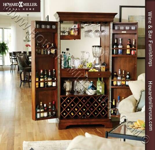 Howard Miller 695064 Sonoma Hide A Bar Wine Spirits Storage Cabinet