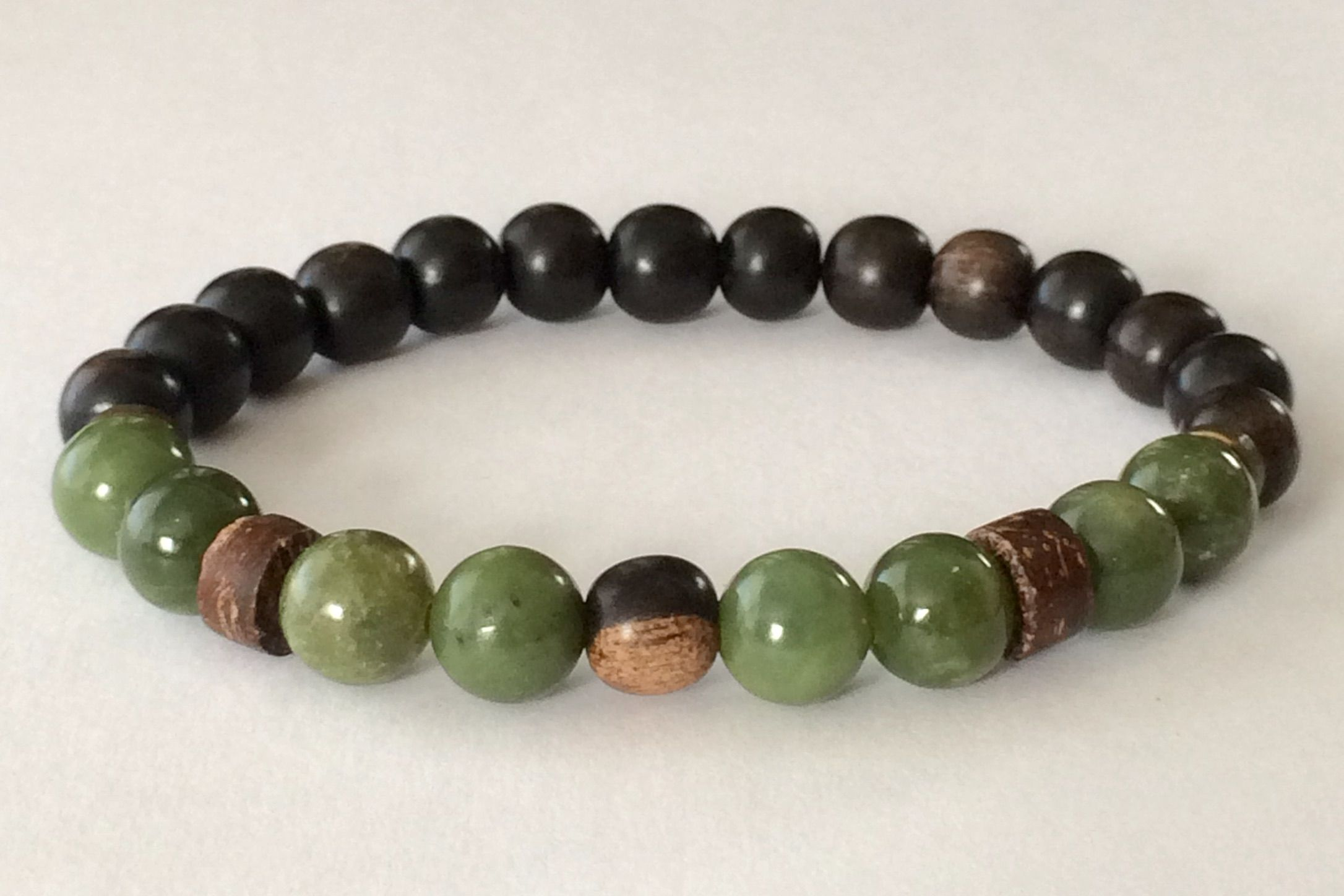 Ebony Wood Gemstone Mala Lava Bracelet Men Bracelets For