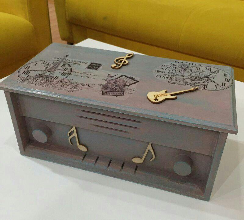 Ahşap Boyama Radyo Kutu Radyo Kutular Takı Sanat