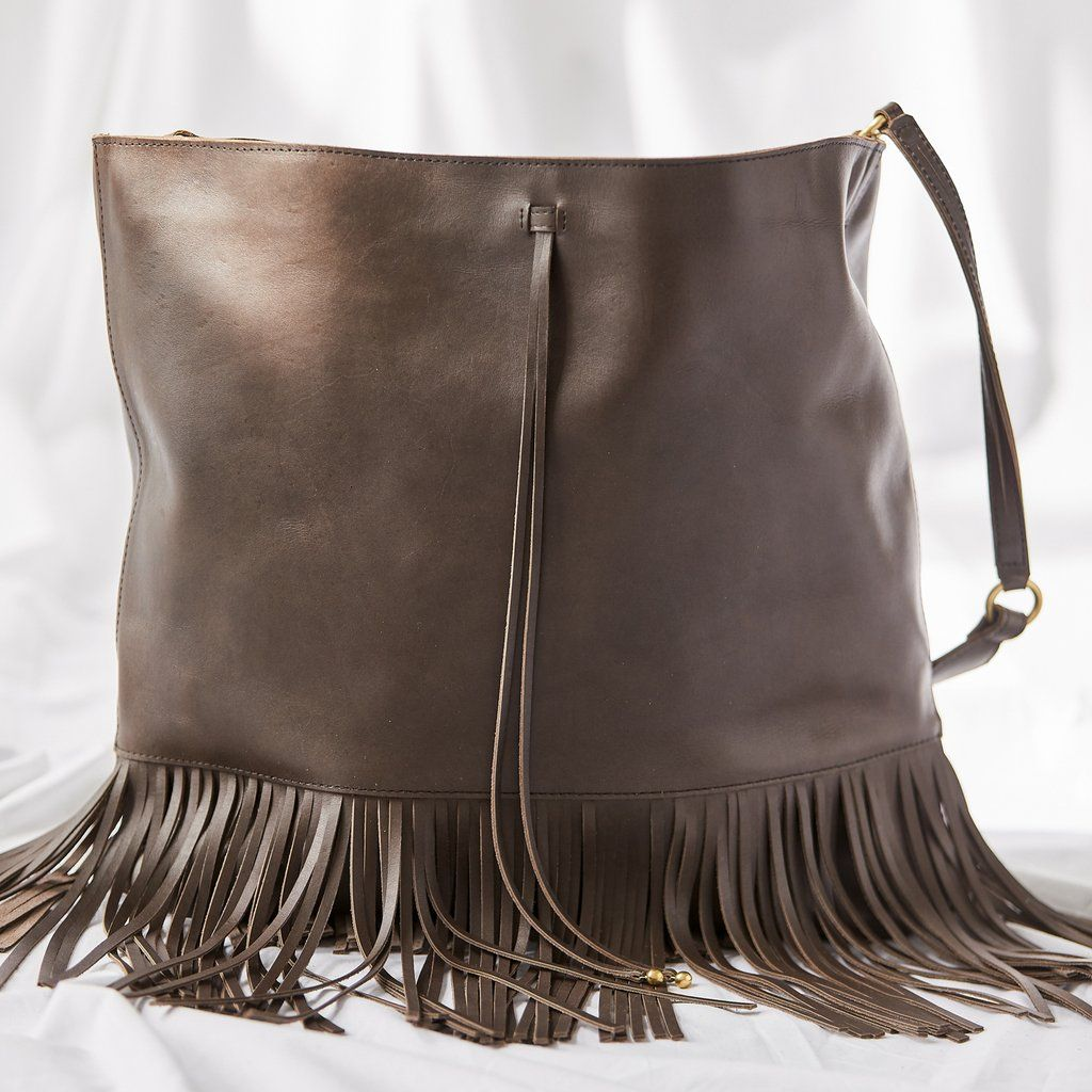 What Is Leather Made Of >> Fringe Hobo Turkish Coffee In 2019 Raven Lily Bags