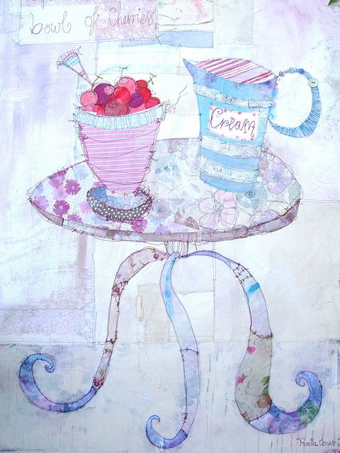 Cherries & Cream by priscilla jones, via Flickr