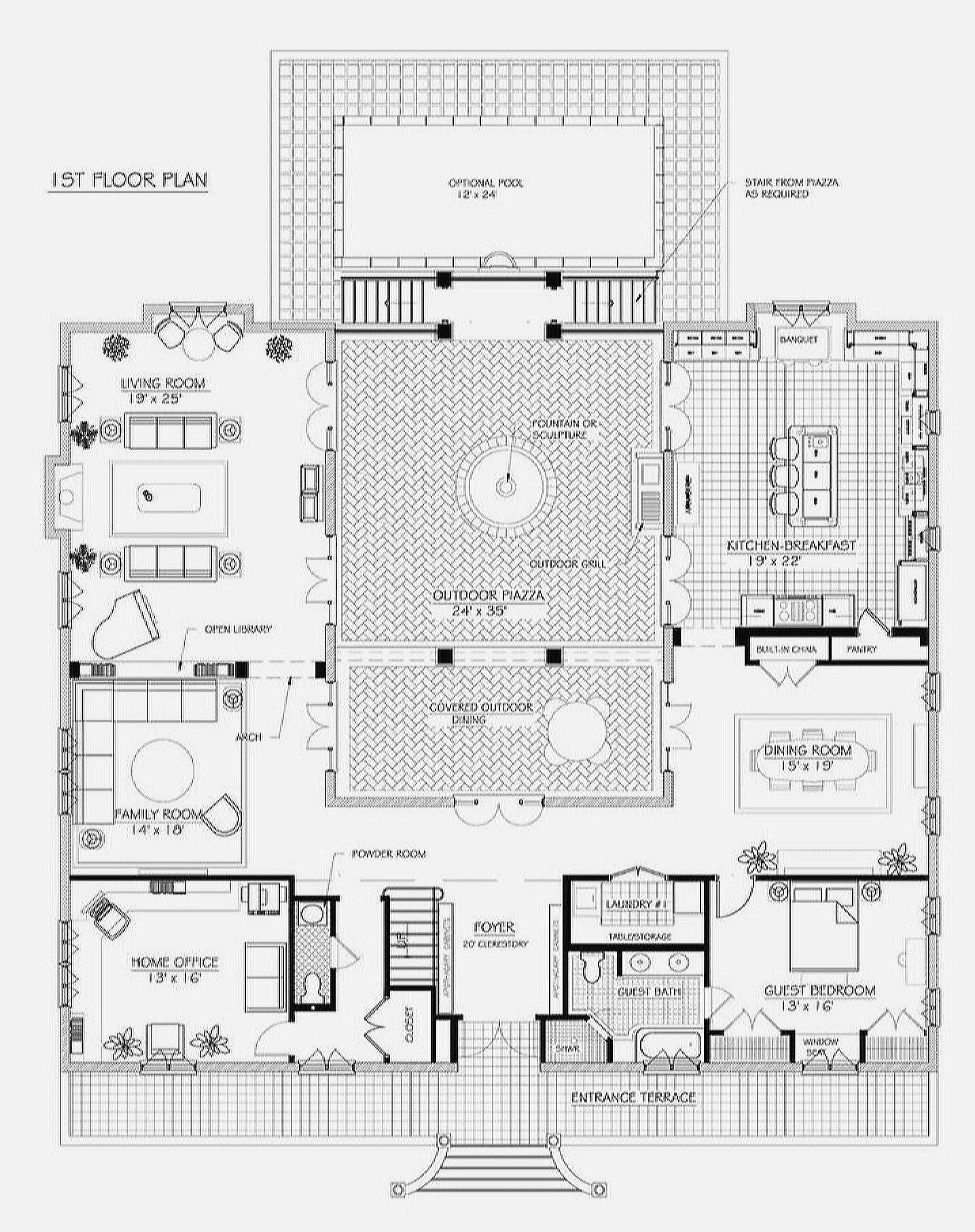 Pin By Anita Reina On Plans French House Plans House Floor Plans French Villa