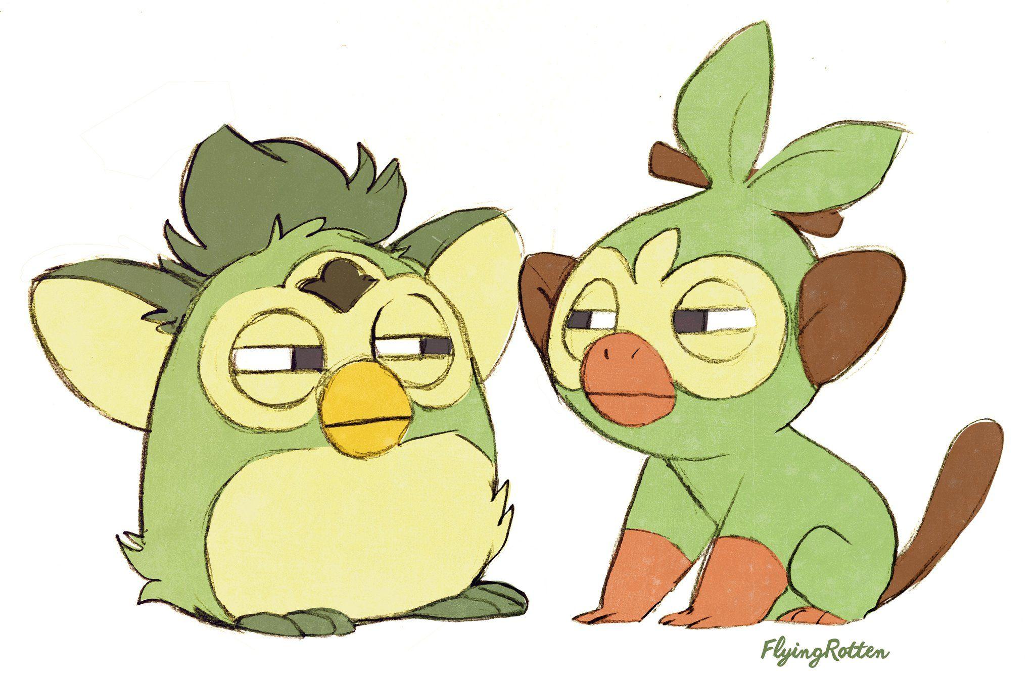 Flyingrotten On Twitter Pokemon Cute Pokemon Pokemon Funny Figured out grookey's evolution meme. pinterest