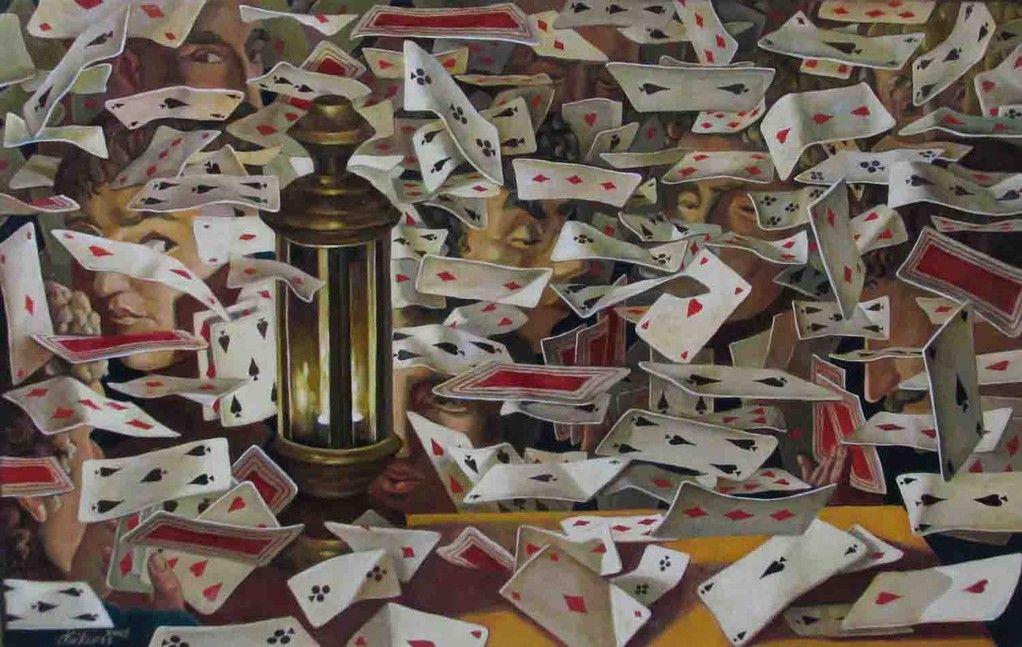 Galerie 3 In Den Bildern Von Kaikaoss Erscheint Das Leben Als Theaterbuhne Der Kunstler Spielt Mit Figuren Und Karten Masken Und Mythen Auf Mehrer Goruntuler Ile