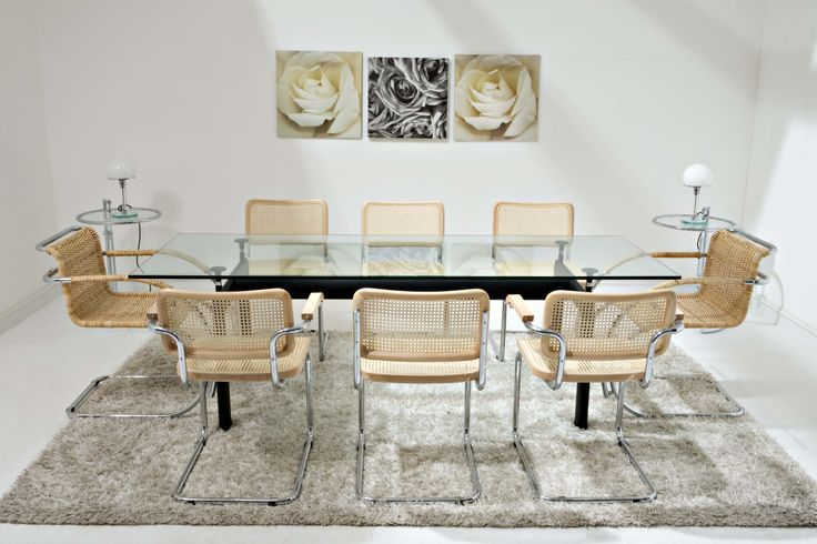 Marcel Breueur Cesca Chairs And Glass Top Dining Table. Part 83