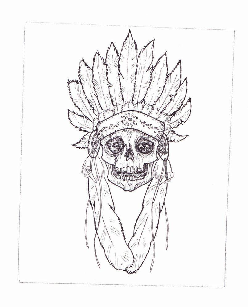 indian headdress | Indian Headdress Skull by ~tbrown61 on ...