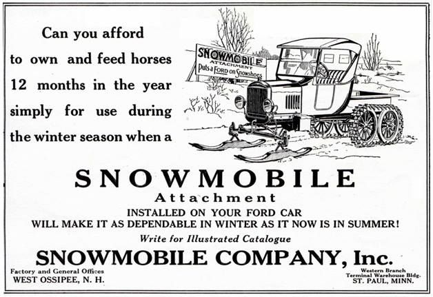snow mobile attachment for model t ford model t ford vintage ads pinterest