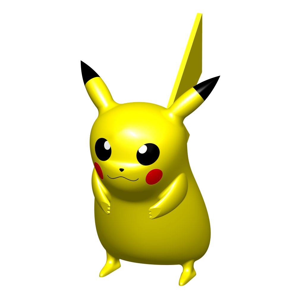A 3d Solidworks Model Of The Famous Pokemon Pikachu Pikachu Pokemon Character