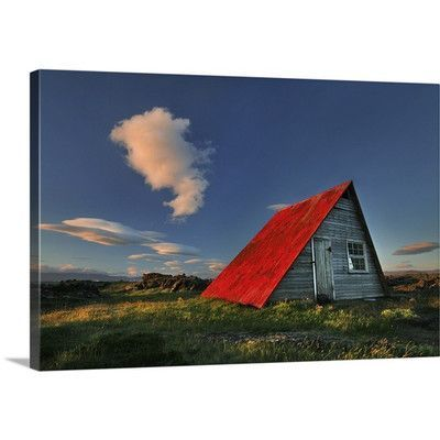 """Canvas On Demand The Red Roof by Bragi Ingibergsson Photographic Print on Canvas Size: 20"""" H x 30"""" W"""