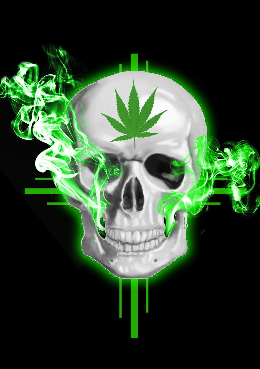 Skulls & Illusion   High weed, life   Pinterest   Totenköpfe ...