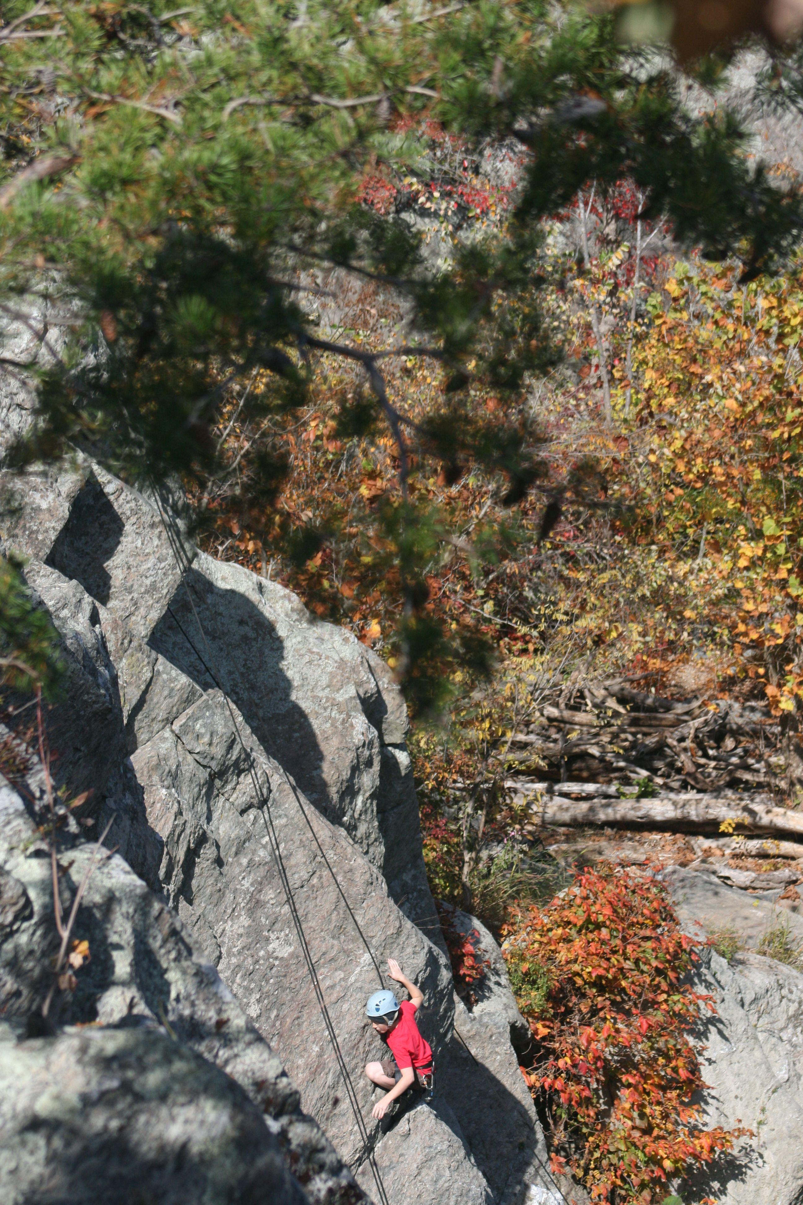 Rock Climber at Great Falls National Park - Virginia Side