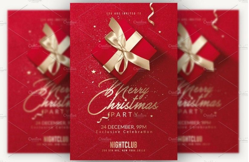 Beautiful Christmas Invitation Templates For Christmas Night