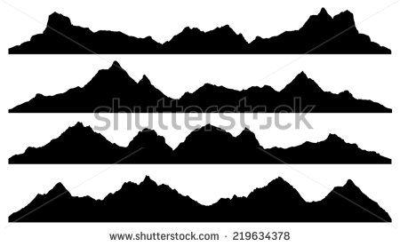 Mountain Silhouette Vector Google Search Mountain Silhouette Mountain Mural Wall Painting
