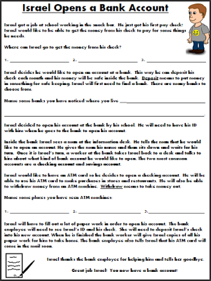 Worksheets Life Skill Worksheets 14 life skills worksheets for the classroom pinterest social opening a bank account