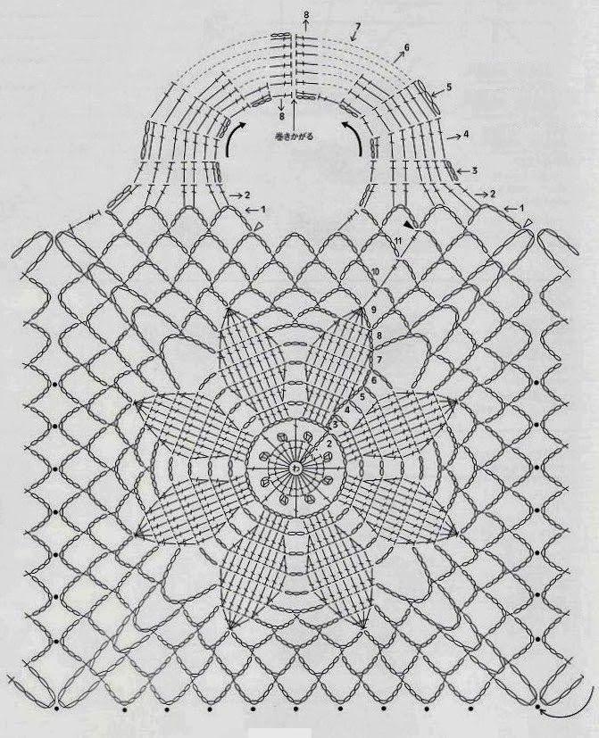 Gráfico.jpg (671×827) | Zapatos tejidos | Pinterest | Ganchillo y ...