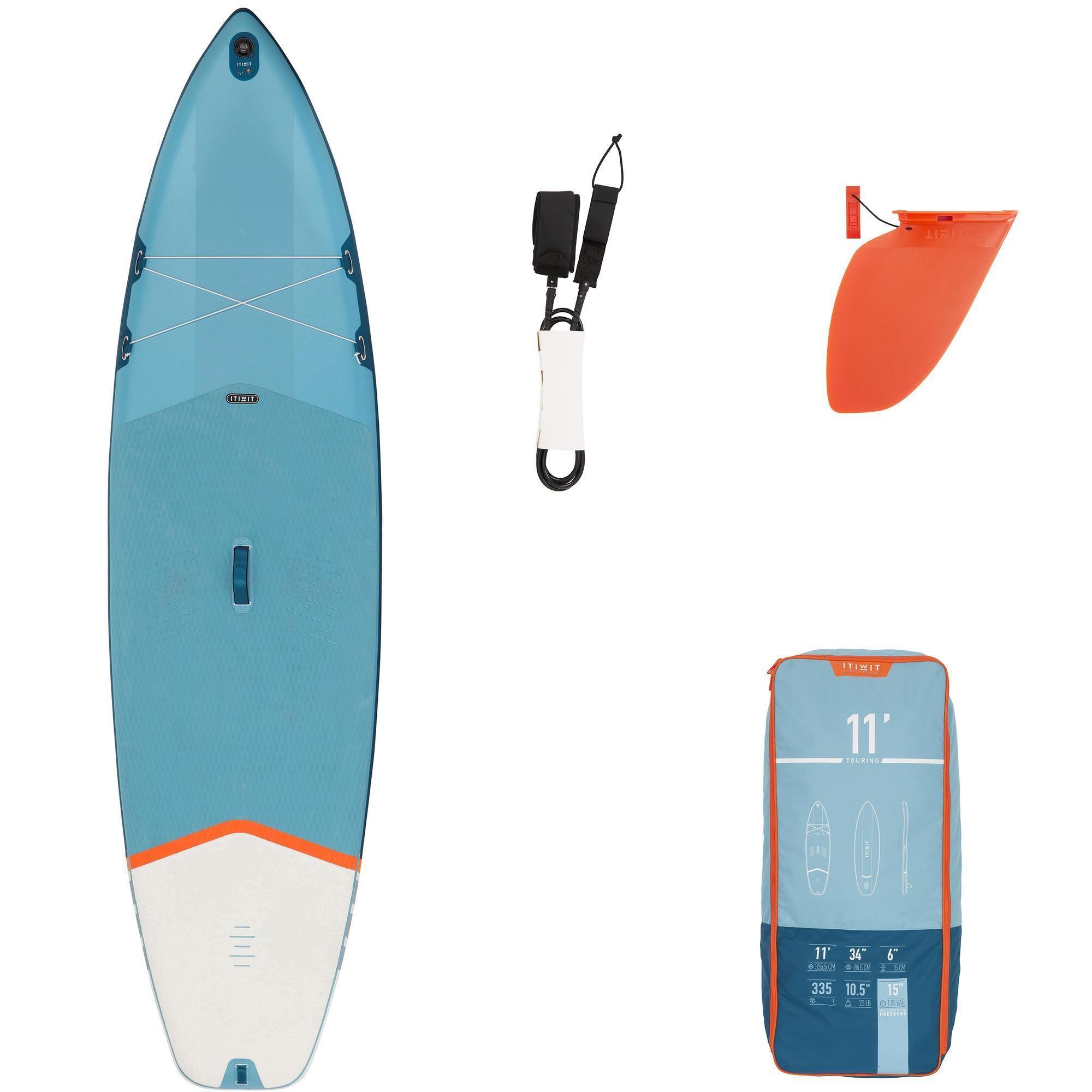 Stand Up Paddle Gonflable De Randonnee Debutant 11 Pieds Bleu En 2020 Stand Up Paddle Kayak Gonflable Sup Board