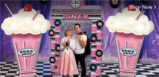50s photo booth on pinterest fifties party 50 party and for 50s party decoration ideas