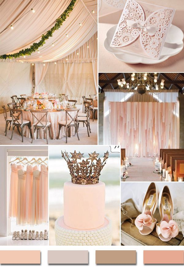 Affordable romantic laser cut blush pink lace wedding for Best wedding colour themes