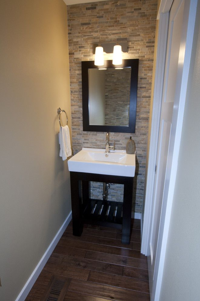 "Half Bathroom Ideas perfect for the half bathroom! united tile ""falling water"" mosaic"