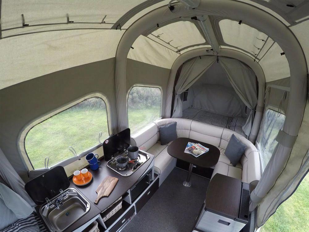 Camping in an ultra lightweight pop up camper is a fun way