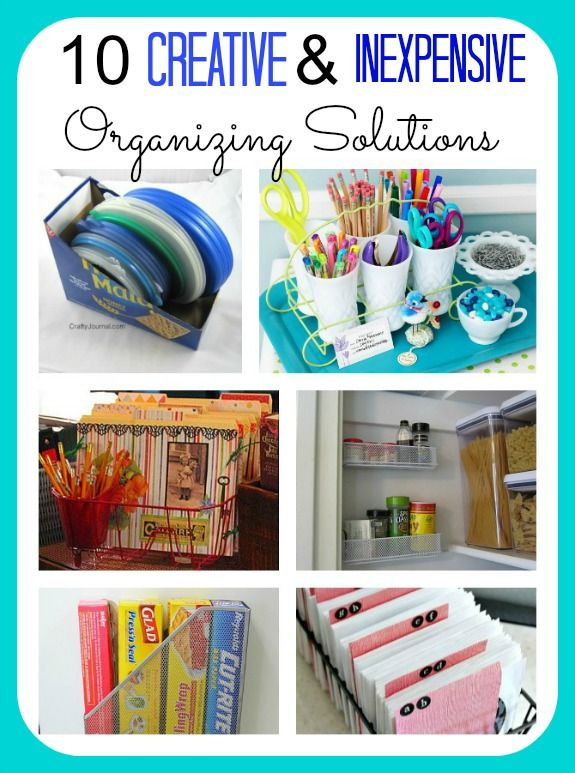 Creative Organization Ideas Creative & Inexpensive Organizing Ideas  Storage Containers .
