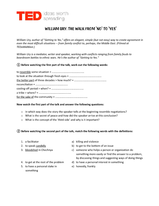 Movie Worksheet TED Less Stuff More Happiness – Happiness Worksheets