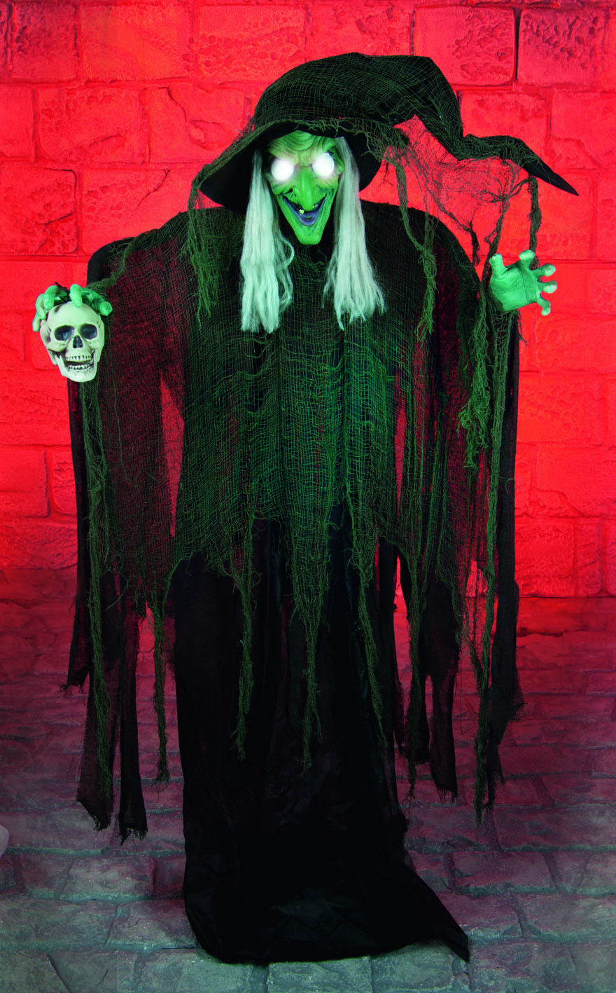 Scary Standing Witch Decoration with LED Eyes #halloween #decoration - Spooky Halloween Decorations