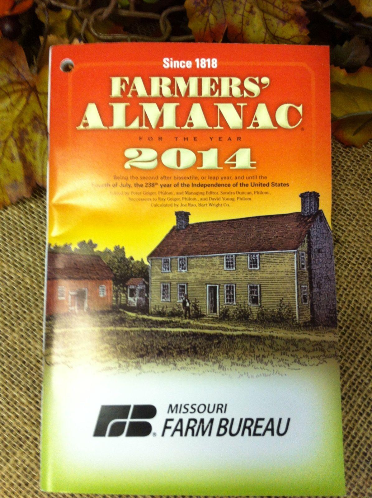 2014 missouri farm bureau almanac farm farmers almanac