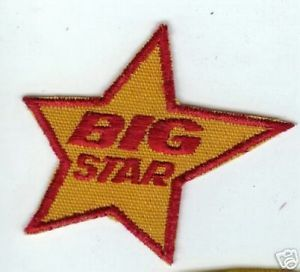 Vintage Big Star Markets Logo Patch Supermarkets Grocery Food Stores Chain White