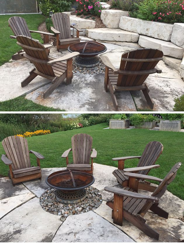 These Photos Are From A Customer Who Bought Our Ipe Royal Adirondack Chairs  Four Years Ago