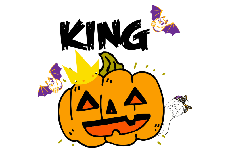 King of patch Halloween pumpkin gift By Juttatee9999