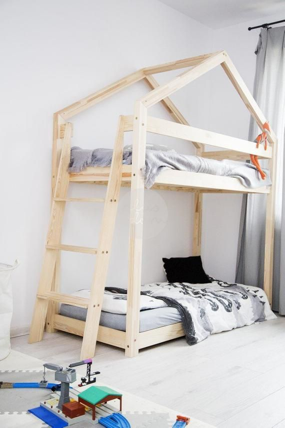 Bunk wooden bed for children TALO D9 Etsy Camas