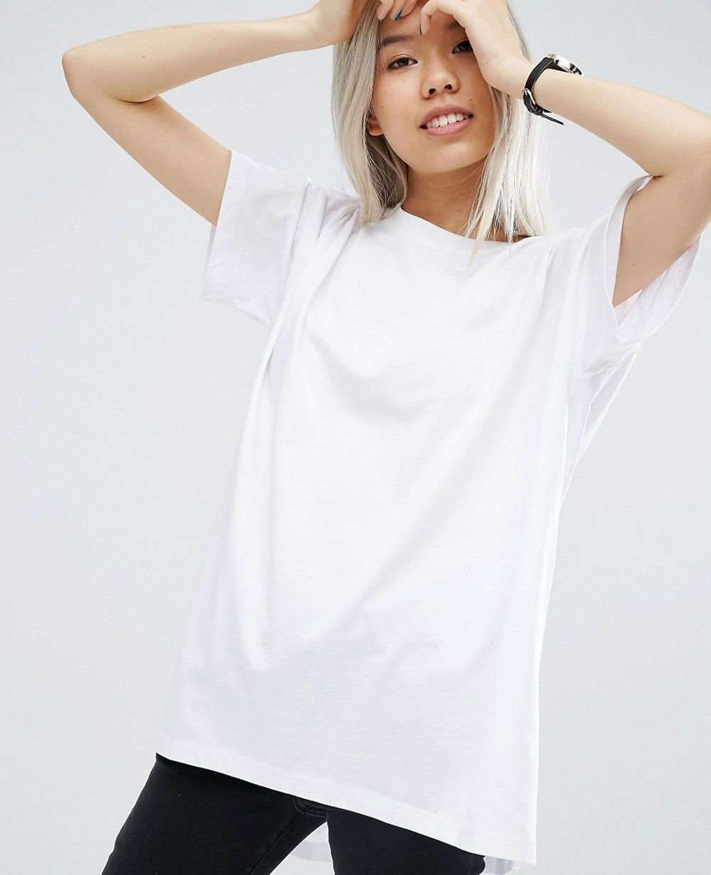 ladies oversized white t shirt
