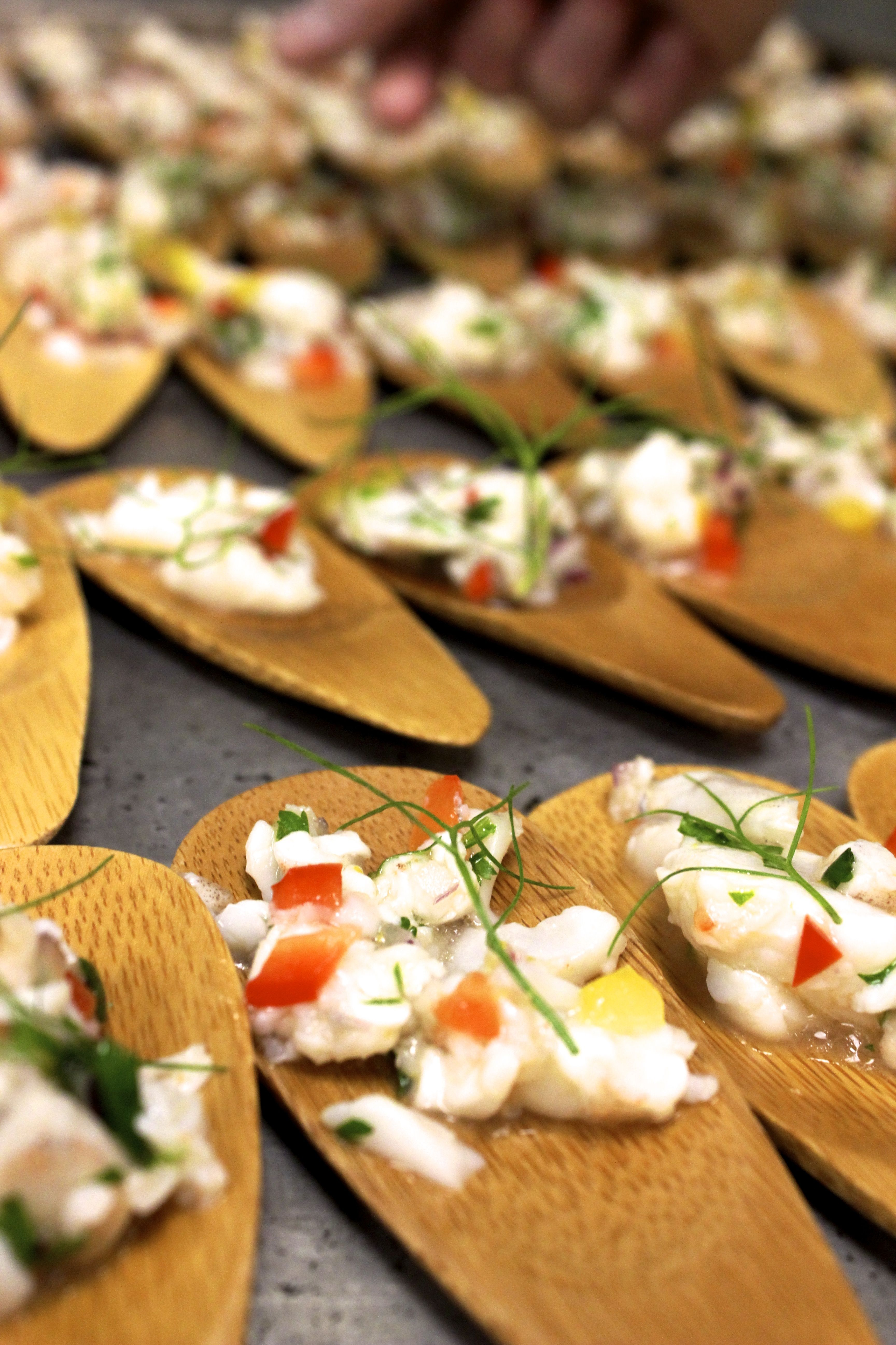 Passed Appetizers #Chartwells | Food, Creative food ...