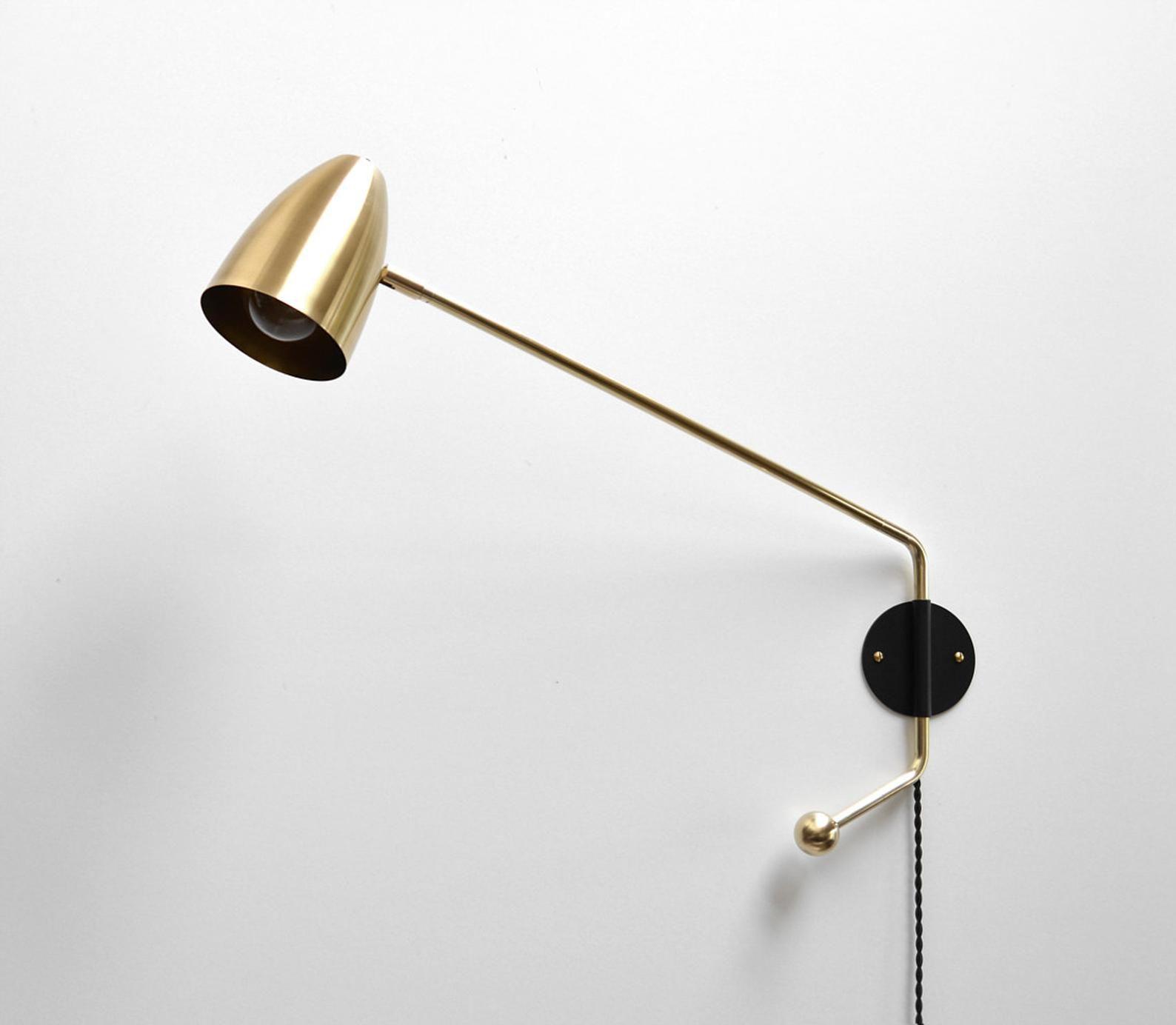 Potence Lamp Modern Brass Swing Arm Sconce 21 27 32 Or 44 Etsy