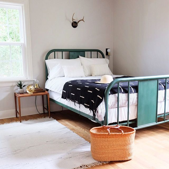 Olive Painted Bed Frame Spanish Moss Krylon Painted Metal Bed