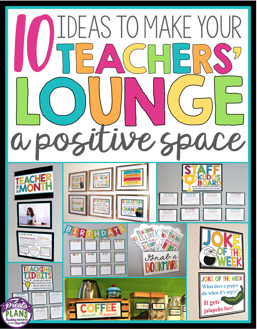 teachers lounge staffroom set up and decor bundle teacher rh pinterest com