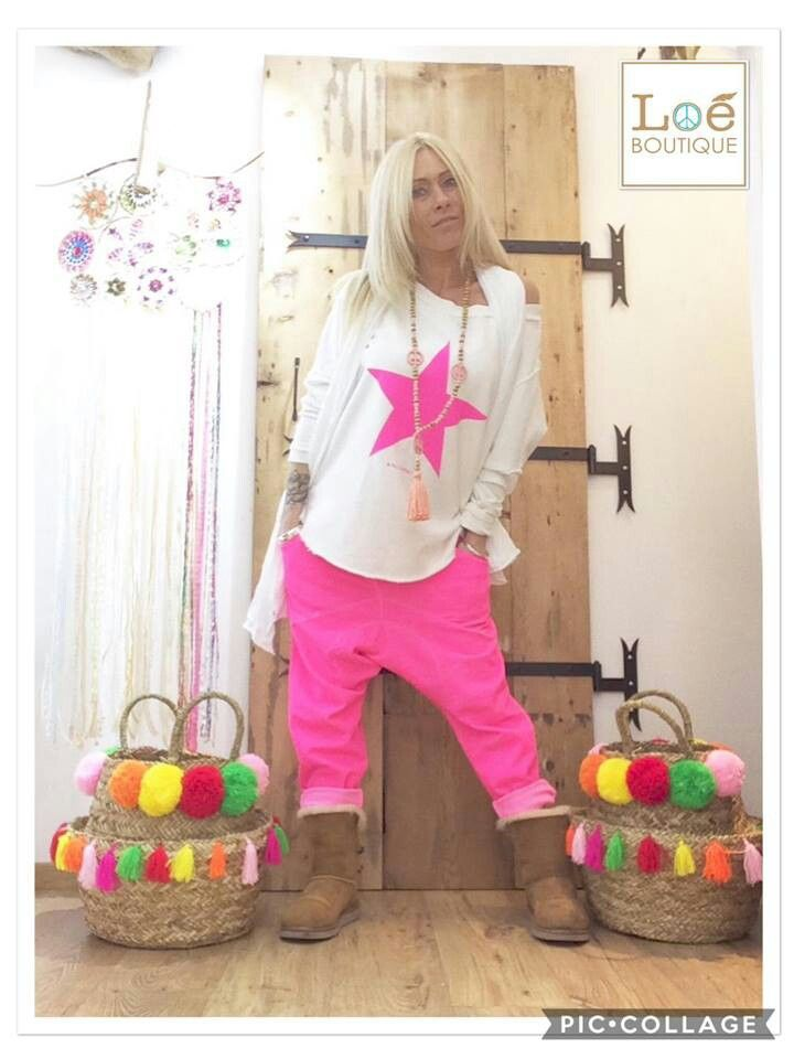 sweat oversize star pink sarouel loose pink chantal b loeboutique retrouvez nous sur. Black Bedroom Furniture Sets. Home Design Ideas
