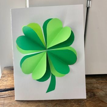 Photo of St. Patrick's Day Pop Up Card & Writing Prompt