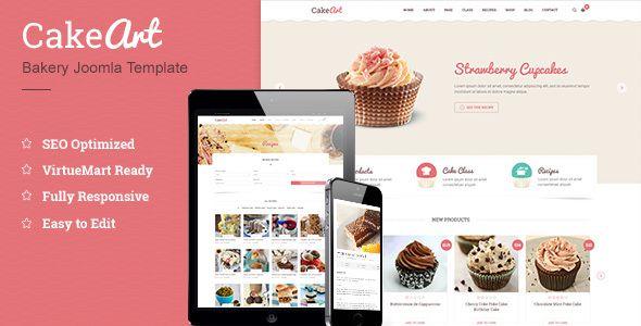 Joomla Bakery & Cake Template - Cakeart