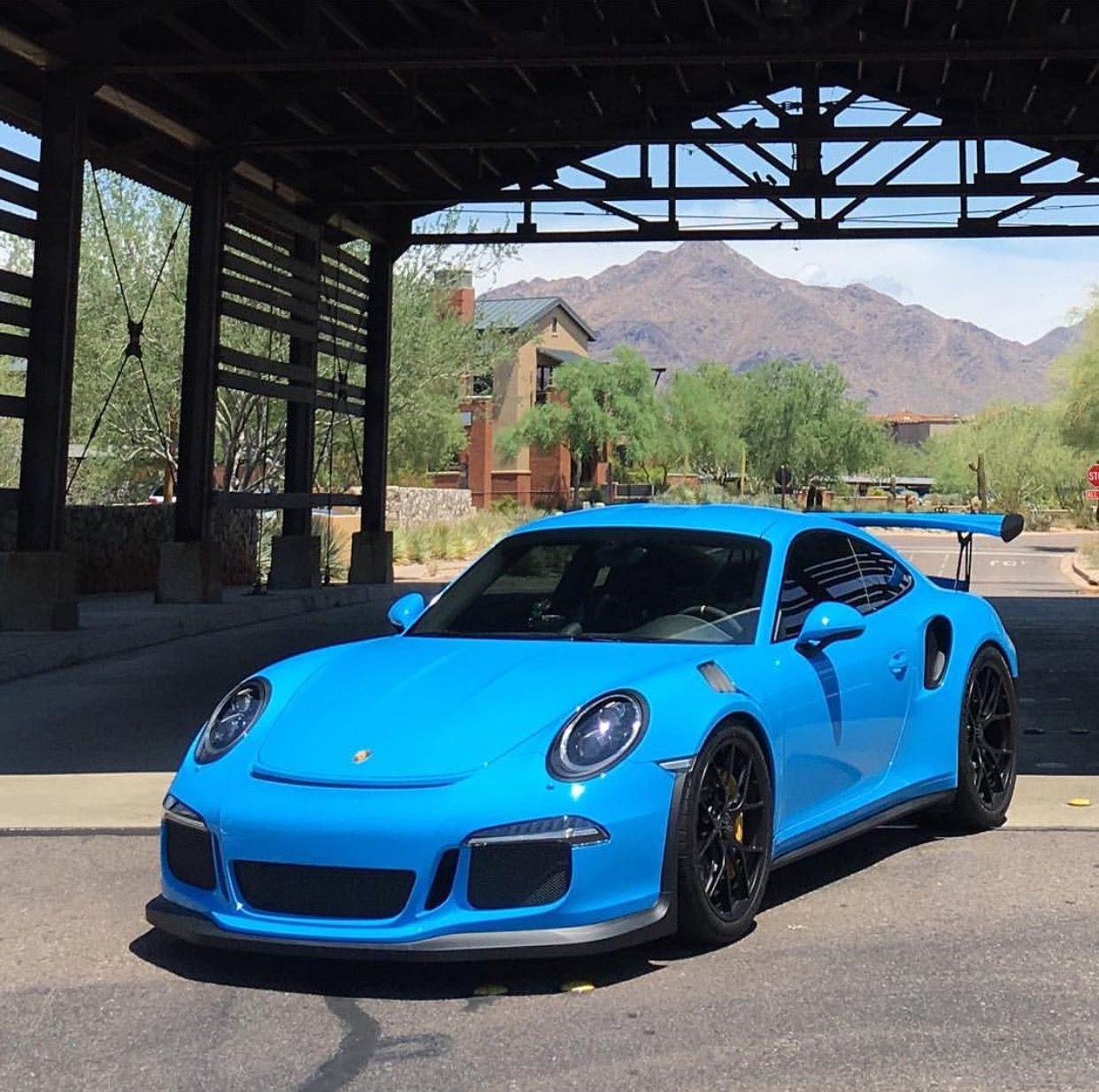 Porsche 991 GT3 RS Painted In Paint To Sample Riviera Blue
