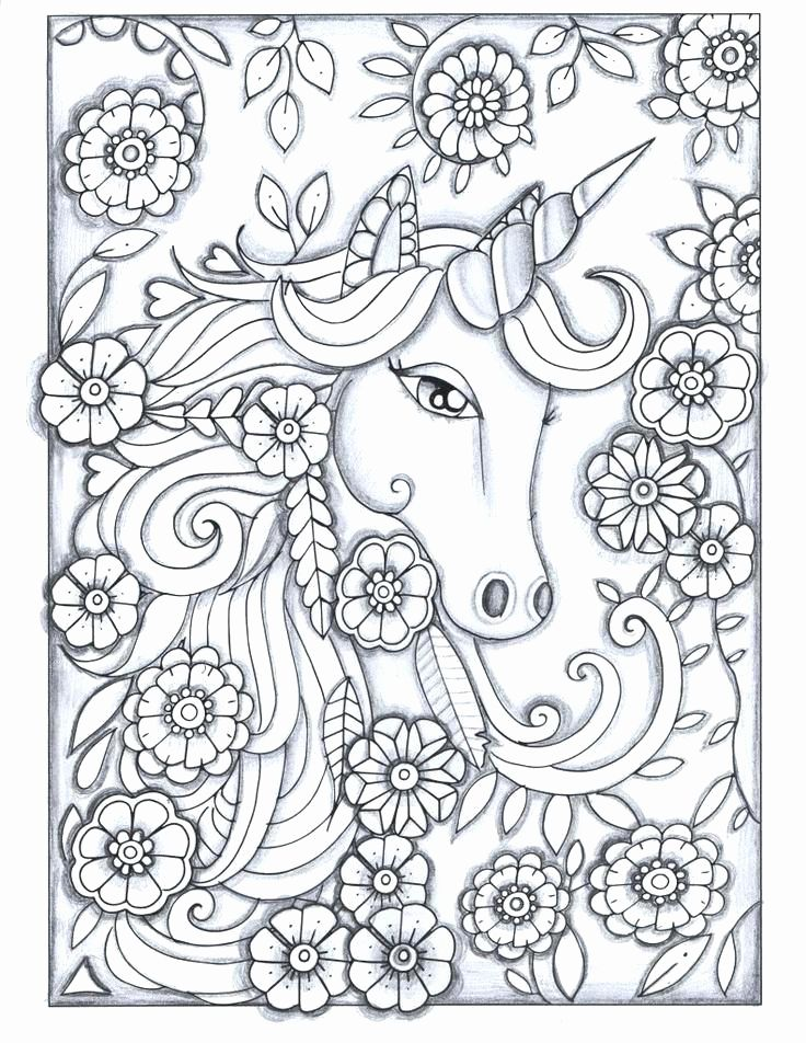 Unicorn Coloring Pages For Kids To Print Hard Unicorn Coloring Pages Diy Coloring Books Coloring Book Art