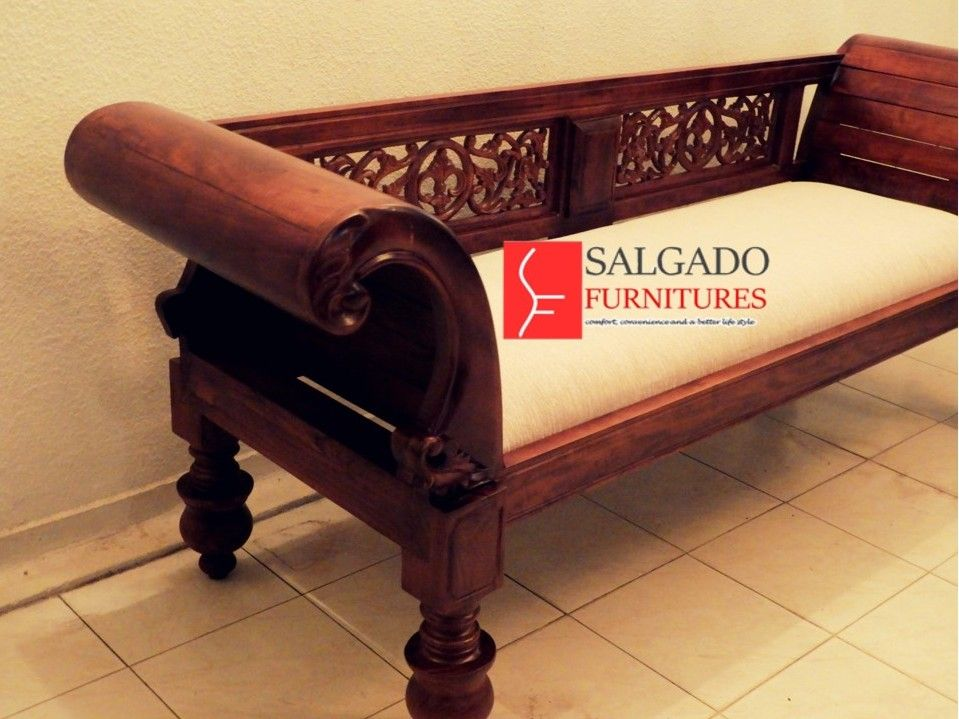 Fabricated Teak Wooden Couch From Salgado Furnitures Comfort Convenience And A Better Life Style We Can Customize Orders Wooden Couch Furniture Making Teak