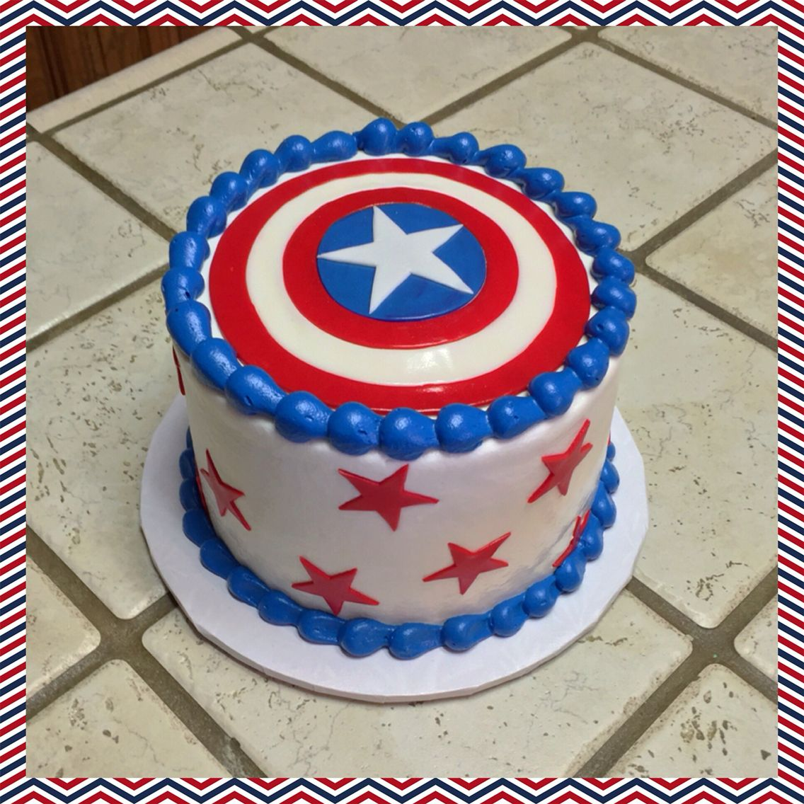 A Captain America Smash Cake Captain America Birthday Cake