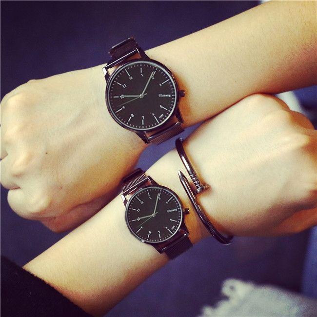 3da298d51a6 2017 Ulzzang Fashion Couple Watches Popular Casual Quartz Women Men Watch  Minimalism Lover s Gift Clock Boys Girls Wristwatch   Price   10.58   FREE  ...
