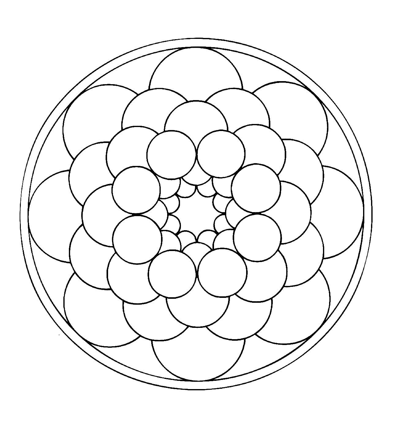 Free Mandalas page «mandala-to-color-easy-children (19