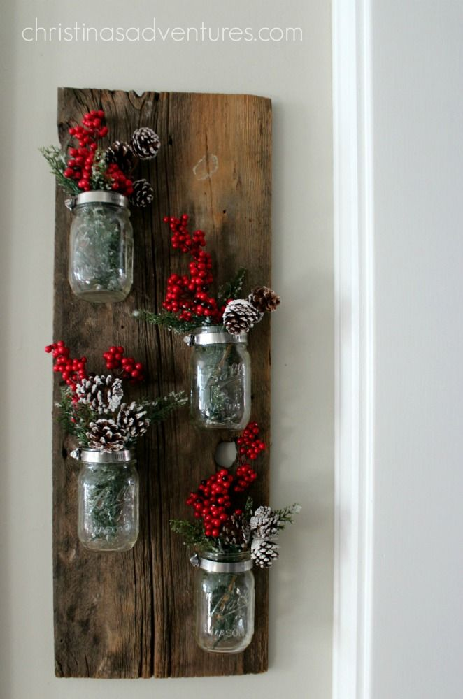 Mason Jar Decorations For Christmas Christmas Mason Jar Decoration  Christmas Mason Jars