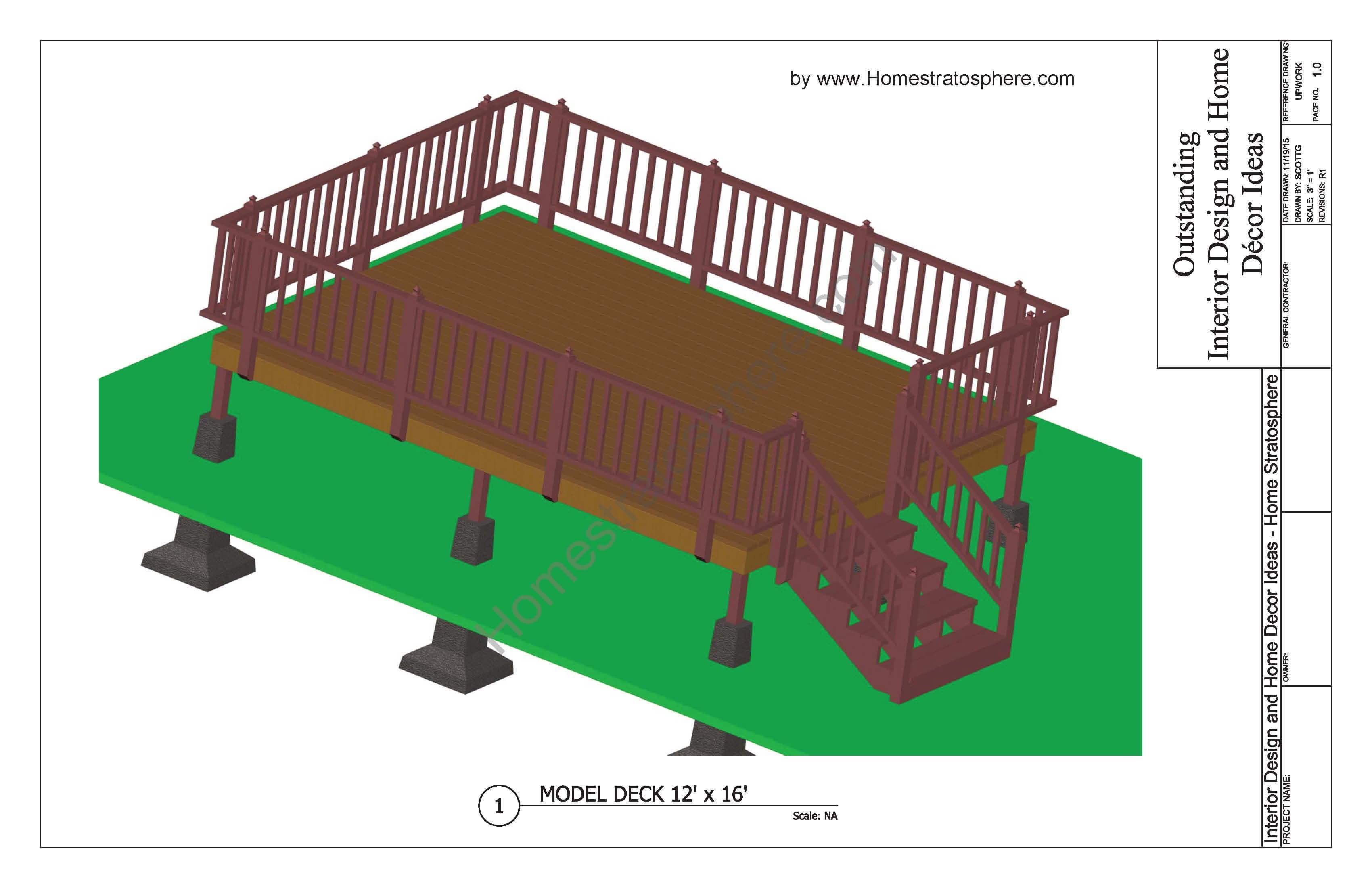 Free Deck Plans And Blueprints Online With Pdf Downloads Free Deck Plans Deck Building Plans Wood Deck Plans