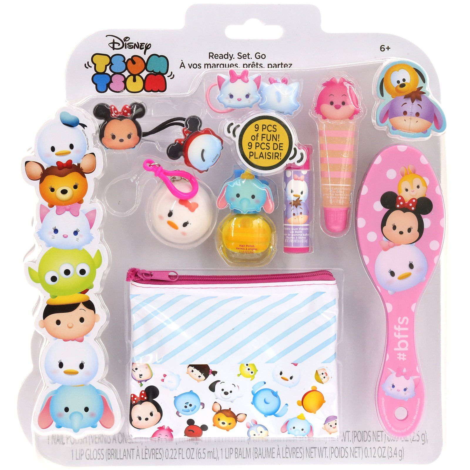 Townleygirl Disneys Tsum Tsum Cosmetic Set With Lip Balm Gloss